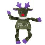View Image 1 of HuggleHounds Holiday Knottie Dog Toy - Jolly Reindeer