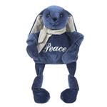 View Image 1 of HuggleHounds Holiday Knottie Dog Toy - Peace Bunny
