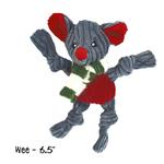 View Image 3 of HuggleHounds Holiday Knotties Dog Toy - Mouse