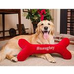 View Image 2 of HuggleHounds Holiday #Naughty #Nice Bone Dog Toy