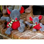 View Image 2 of HuggleHounds Holiday Knotties Dog Toy - Mouse