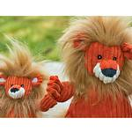 View Image 3 of HuggleHounds Knotties Dog Toy - Lion