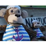 View Image 2 of HuggleHounds Knotties Dog Toy - Sailor Chimp