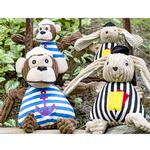 View Image 3 of HuggleHounds Knotties Dog Toy - Sailor Chimp