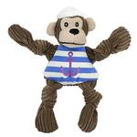 View Image 1 of HuggleHounds Knotties Dog Toy - Sailor Chimp