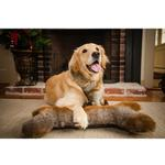 View Image 2 of HuggleHounds Luxx Faux Fur Giant Plush Dog Bone