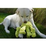 View Image 3 of HuggleHounds Octo-Knottie Dog Toy - Citron