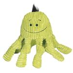 View Image 1 of HuggleHounds Octo-Knottie Dog Toy - Citron