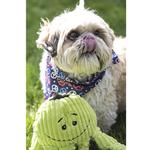 View Image 4 of HuggleHounds Octo-Knottie Dog Toy - Citron