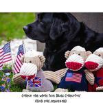 View Image 2 of HuggleHounds Sock Monkey Chubbie Buddie Plush Dog Toy - Union Jack