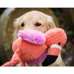 View Image 3 of HuggleHounds Knotties Dog Toy - Flamingo