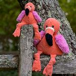 View Image 4 of HuggleHounds Knotties Dog Toy - Flamingo
