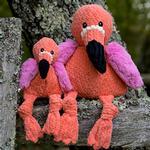 View Image 2 of HuggleHounds Knotties Dog Toy - Flamingo