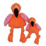 View Image 1 of HuggleHounds Knotties Dog Toy - Flamingo