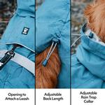 View Image 2 of Hurtta Monsoon Dog Coat - Bilberry