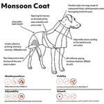 View Image 3 of Hurtta Monsoon Dog Coat - Bilberry