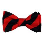 View Image 1 of Huxley & Kent Dog Bow Tie Collar Attachment - Alfred Navy & Red