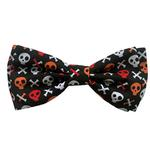 View Image 1 of Huxley & Kent Dog Bow Tie Collar Attachment - Skull and Bones