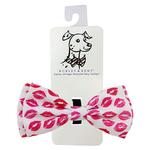 View Image 1 of Huxley & Kent Dog Bow Tie Collar Attachment - Kisses