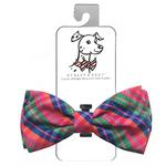 View Image 1 of Huxley & Kent Dog Bow Tie Collar Attachment - Sweet Tart Madras