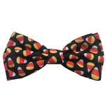 View Image 1 of Huxley & Kent Halloween Dog Bow Tie Collar Attachment - Candy Corn