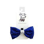 View Image 1 of Huxley & Kent Hanukkah Dog Bow Tie - Blue Disco Dot