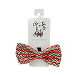 View Image 1 of Huxley & Kent Holiday Dog Bow Tie - Christmas Chevron