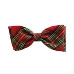 View Image 1 of Huxley & Kent Holiday Dog Bow Tie - Red Plaid