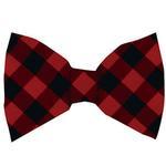 View Image 1 of Huxley & Kent Holiday Dog Bow Tie - Buffalo Check