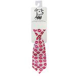 View Image 1 of Huxley & Kent Long Tie Collar Attachment Dog Necktie - Kisses