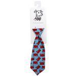 View Image 1 of Huxley & Kent Long Tie Collar Attachment Dog Necktie - Mr Krabs