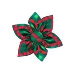 View Image 1 of Huxley & Kent Pinwheel Holiday Dog Collar Attachment - Scottish Check
