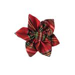 View Image 1 of Huxley & Kent Pinwheel Holiday Dog Collar Attachment - Red Plaid