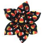 View Image 1 of Huxley & Kent Halloween Pinwheel Pet Collar Attachment - Candy Corn