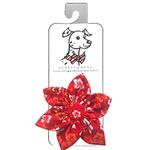 View Image 1 of Huxley & Kent Pinwheel Pet Collar Attachment - Red Hibiscus