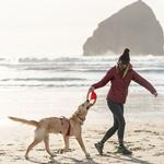 View Image 4 of Pacific Ring Dog Toy by RuffWear - Sockeye Red