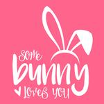 View Image 2 of Some Bunny Loves You Dog Hoodie - Pink