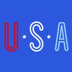 View Image 2 of USA Dog Shirt - Blue
