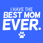 View Image 2 of I Have The Best Mom Ever Dog Shirt - Blue
