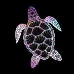 View Image 2 of Galaxy Sea Turtle Dog Shirt - Black