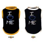 View Image 1 of I Love Me Reflective Dog T-Shirt by Ultra Paws - Gold Trim