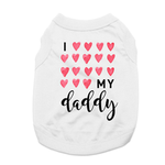 View Image 1 of I Love My Daddy Dog Shirt - White