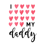 View Image 2 of I Love My Daddy Dog Shirt - White