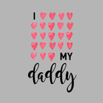 View Image 2 of I Love My Daddy Dog Hoodie - Gray