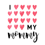 View Image 2 of I Love My Mommy Dog Shirt - White