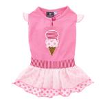 View Image 1 of Ice Cream Dog Dress by Dogo - Pink