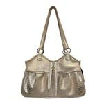 View Image 1 of Gold Croc Metro Tassel Dog Carrier by Petote