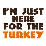 View Image 2 of I'm Just Here for the Turkey Dog Shirt - White