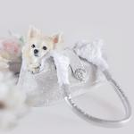 View Image 2 of Imperial Crystal Dog Carrier by Hello Doggie - Silver