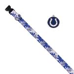 View Image 1 of Indianapolis Colts Team Camo Dog Collar and Tag by Yellow Dog